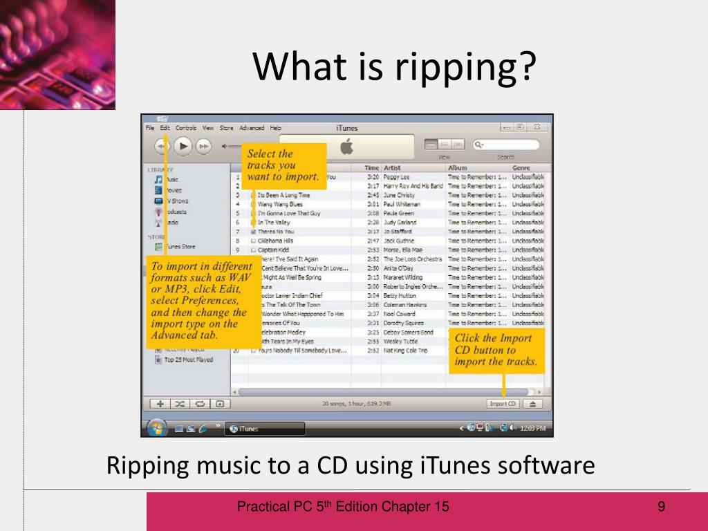 What is ripping?