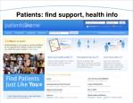 patients find support health info