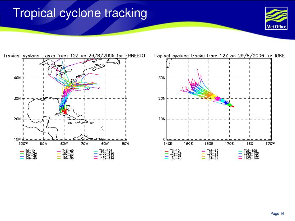 Tropical cyclone tracking