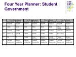 four year planner student government