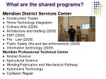 what are the shared programs