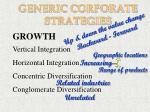 generic corporate strategies48
