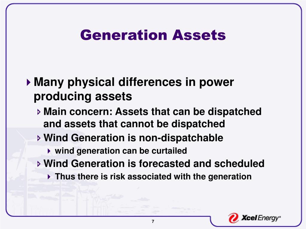 Generation Assets