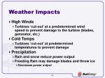 weather impacts