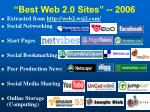 best web 2 0 sites 2006
