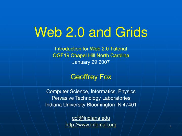 web 2 0 and grids