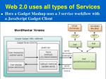 web 2 0 uses all types of services