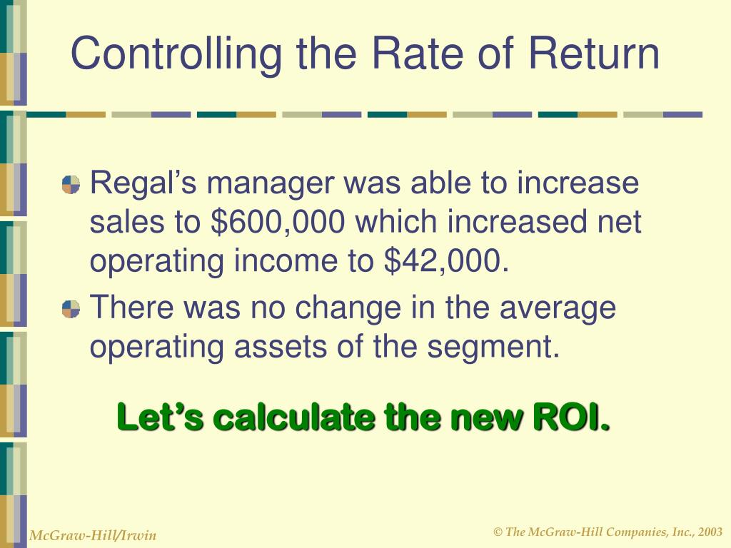 Controlling the Rate of Return