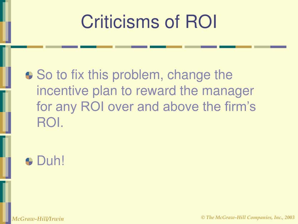 Criticisms of ROI