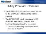 hiding processes windows32