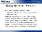 hiding processes windows35