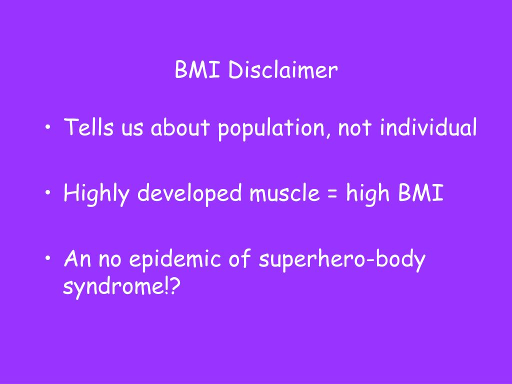BMI Disclaimer