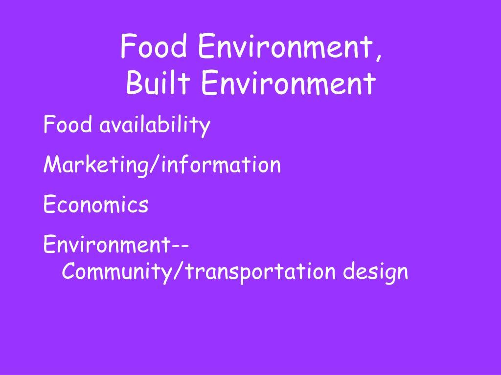 Food Environment,