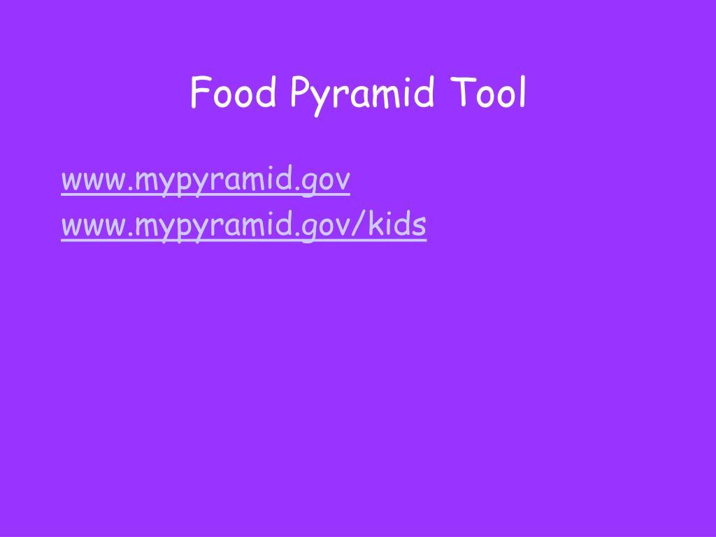 Food Pyramid Tool