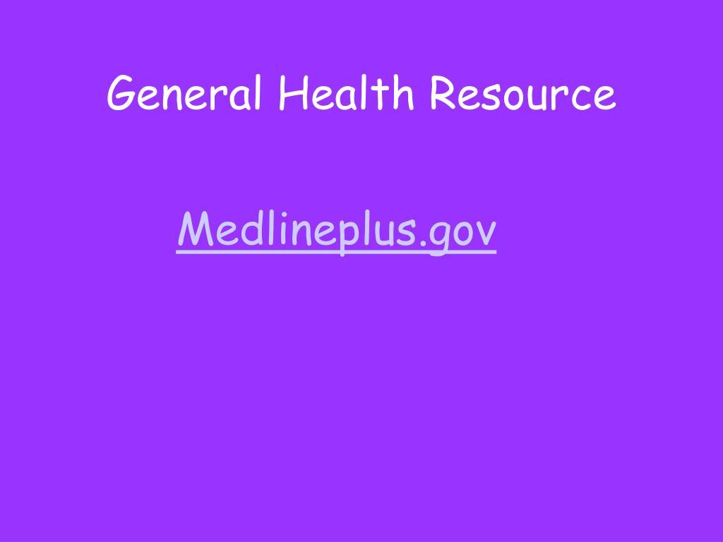 General Health Resource
