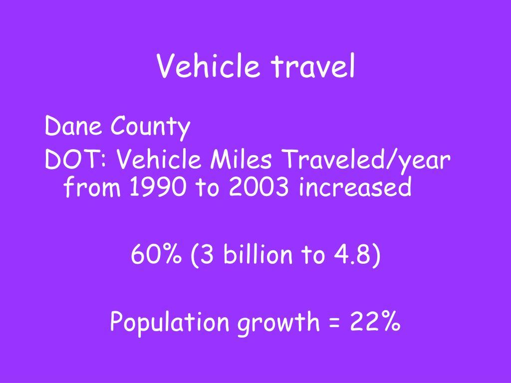 Vehicle travel