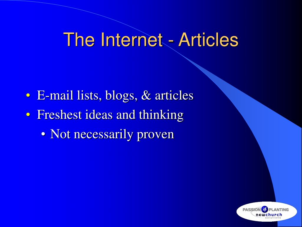 The Internet - Articles