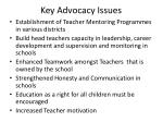 key advocacy issues