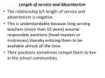 length of service and absenteeism