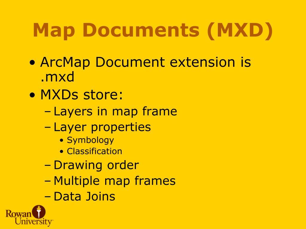 Map Documents (MXD)