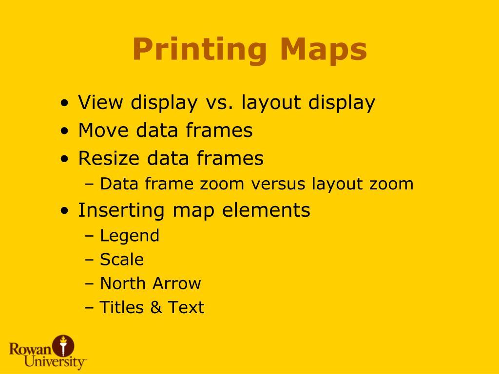 Printing Maps