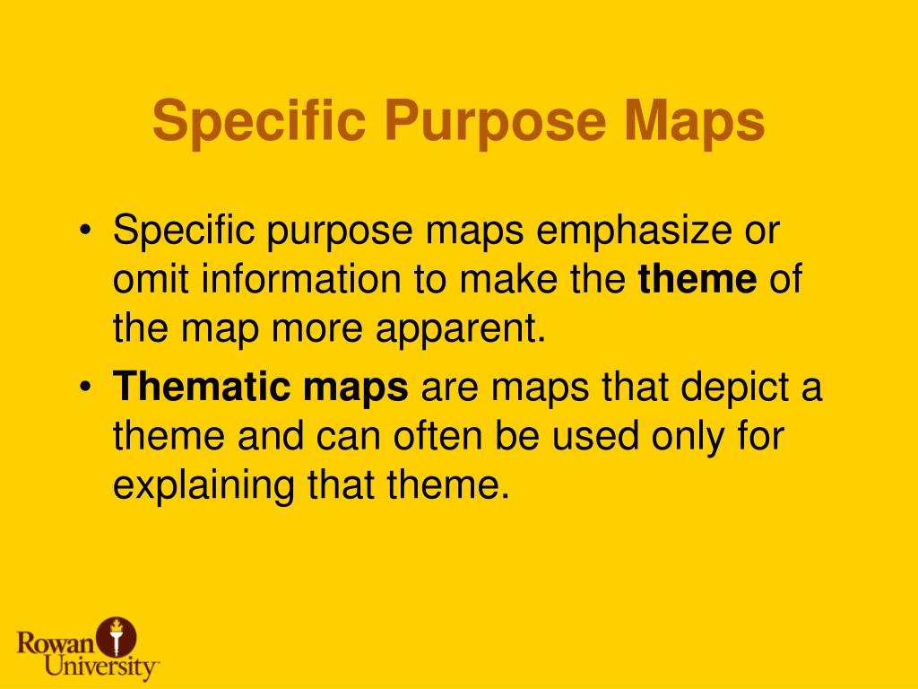 Specific Purpose Maps