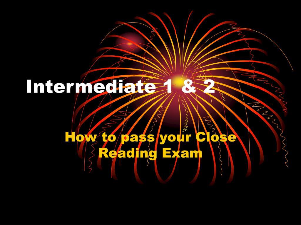 Intermediate 1 & 2