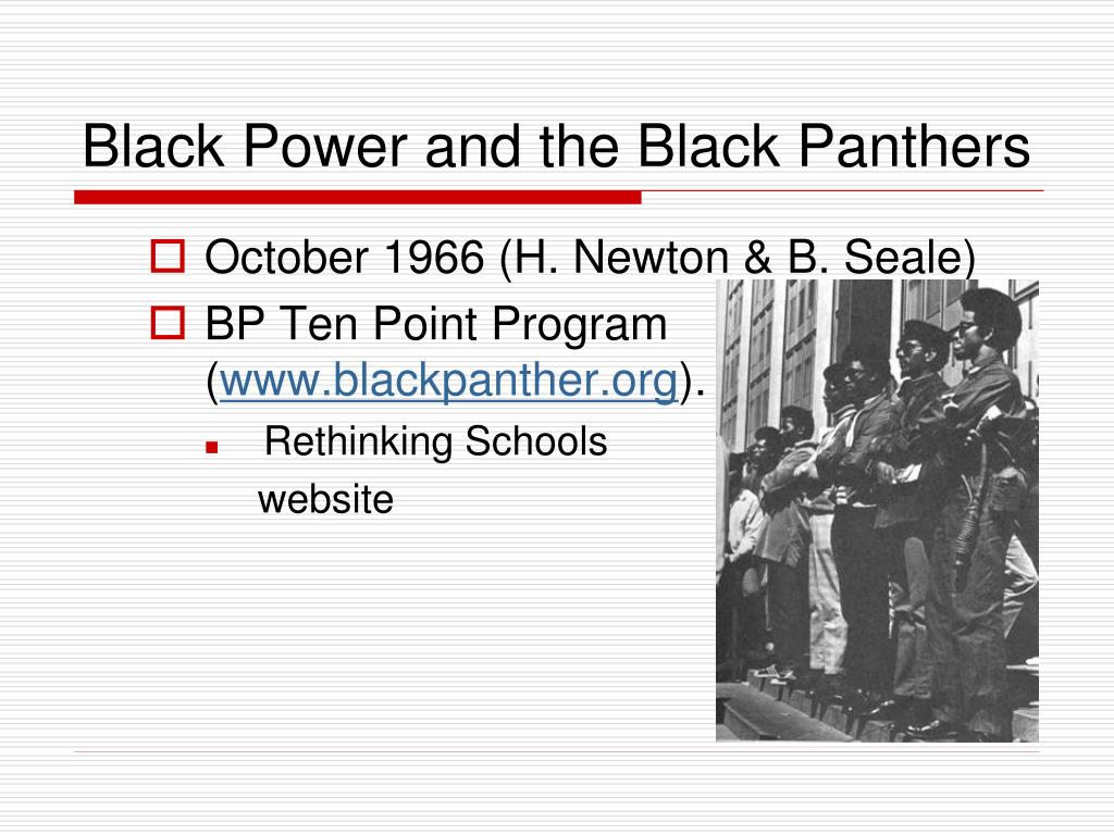 the role of the black panthers in the black rights struggles in america Pt: is it right to say that black panther is your biggest movie role yet sope: absolutely without a doubt, the black panther is the biggest feature film i.