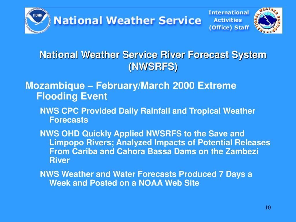 National Weather Service River Forecast System (NWSRFS)