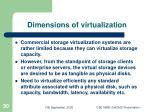 dimensions of virtualization