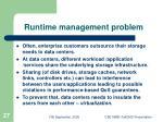 runtime management problem