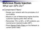 malicious route injection what can isps do