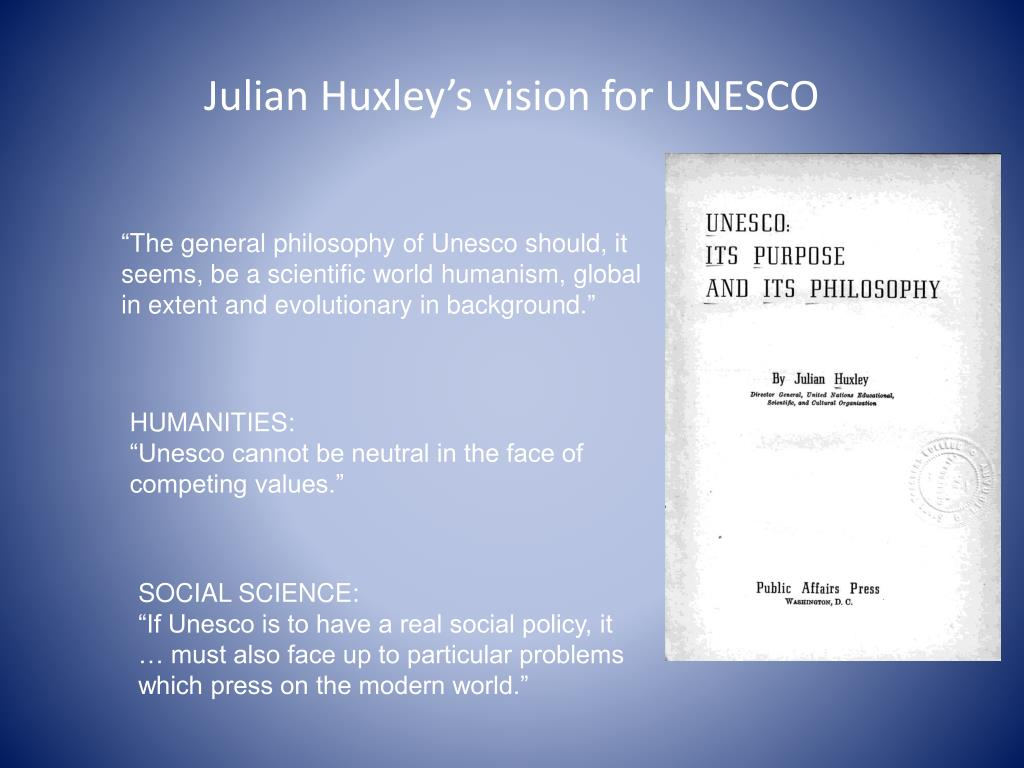 julian huxley evolutionary humanism pdf