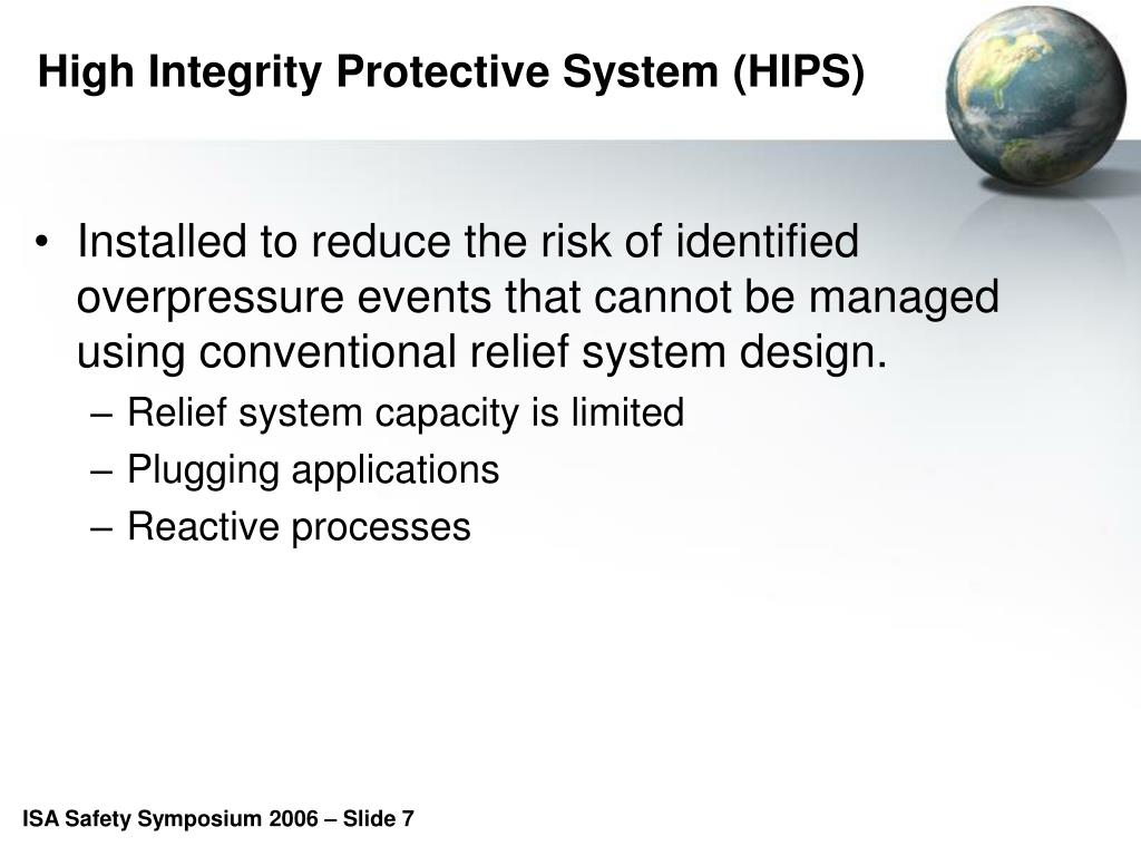High Integrity Protective System (HIPS)