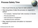 process safety time