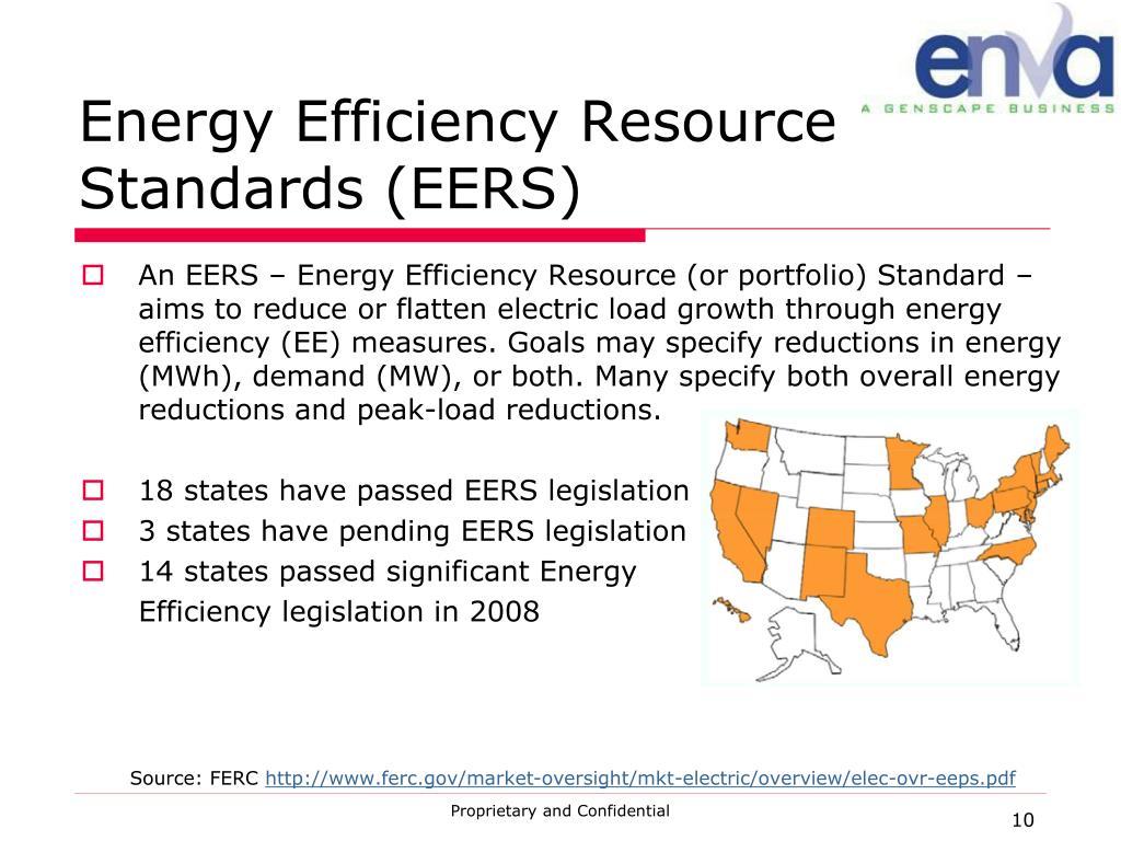 Energy Efficiency Resource Standards (EERS)