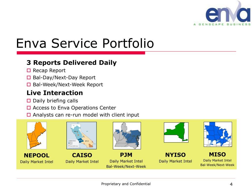 Enva Service Portfolio