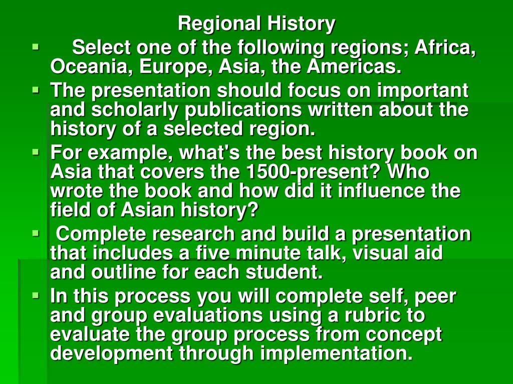 Regional History