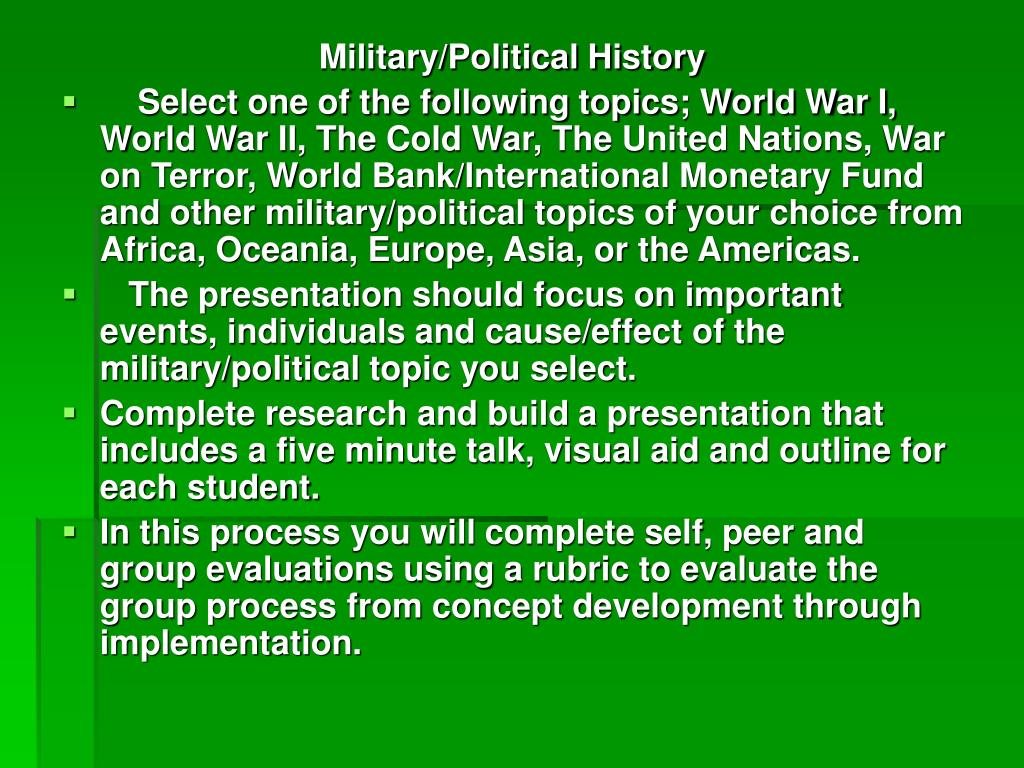 Military/Political History