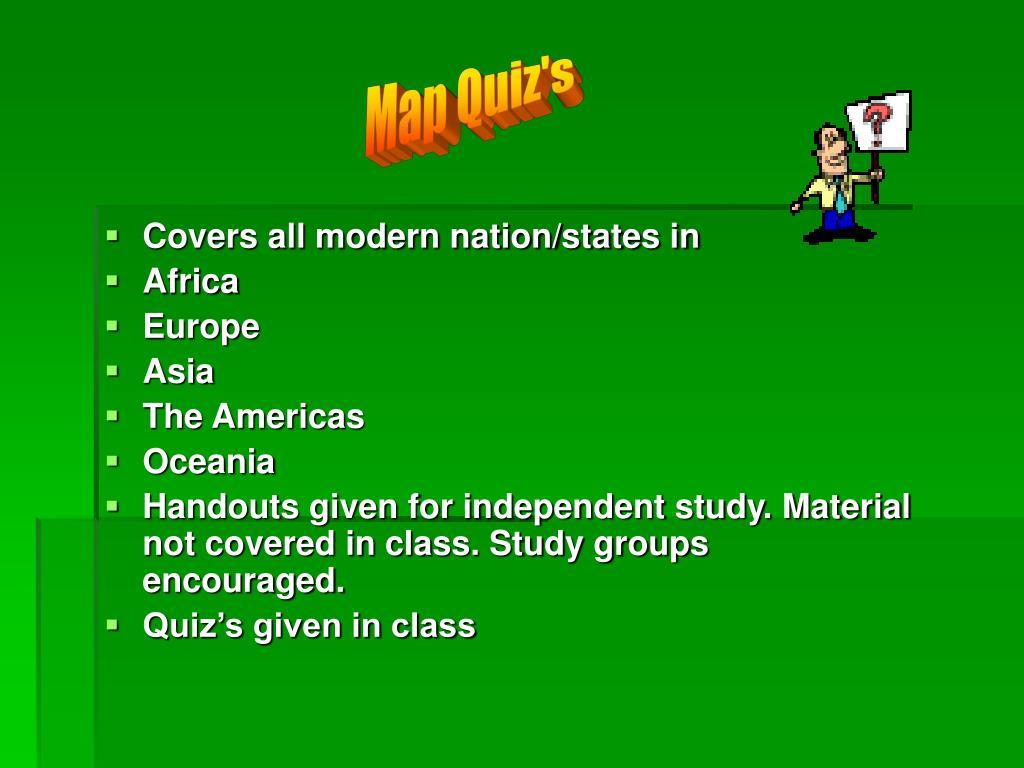 Map Quiz's