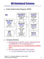 hr relational schema