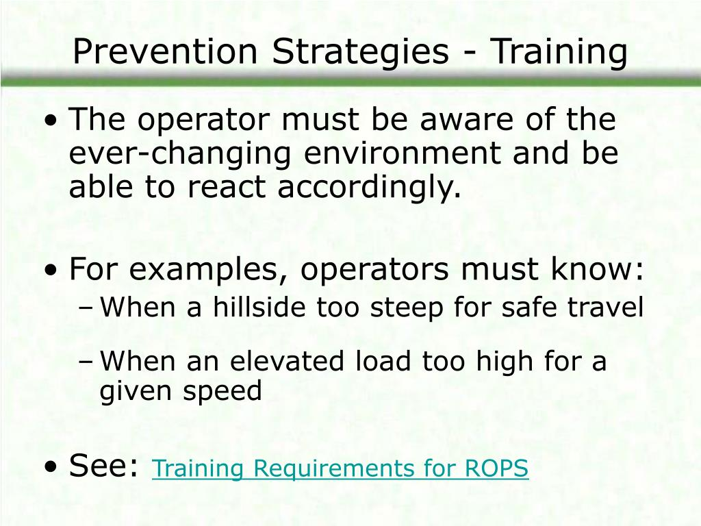 Prevention Strategies - Training