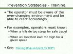 prevention strategies training27