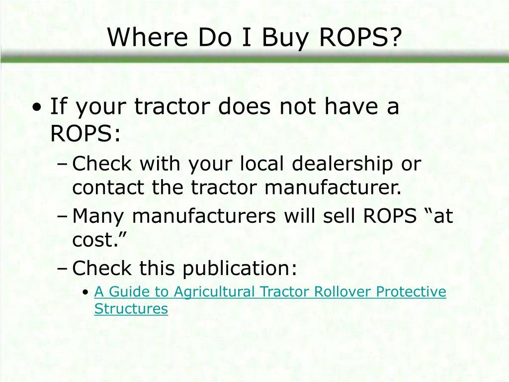 Where Do I Buy ROPS?