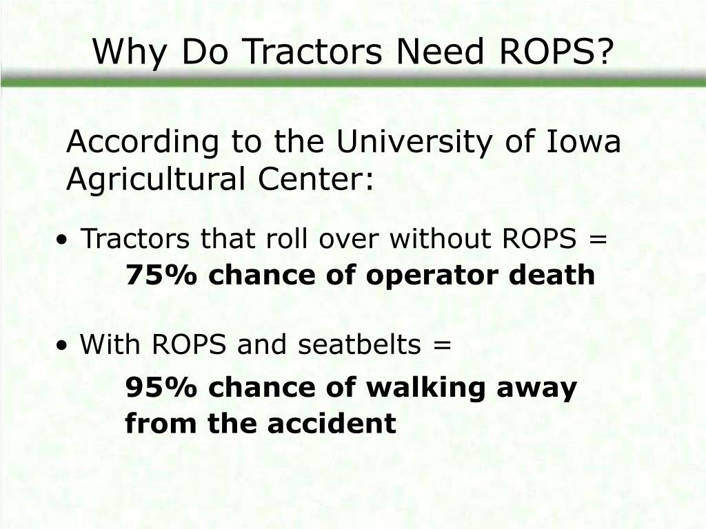 Why Do Tractors Need ROPS?