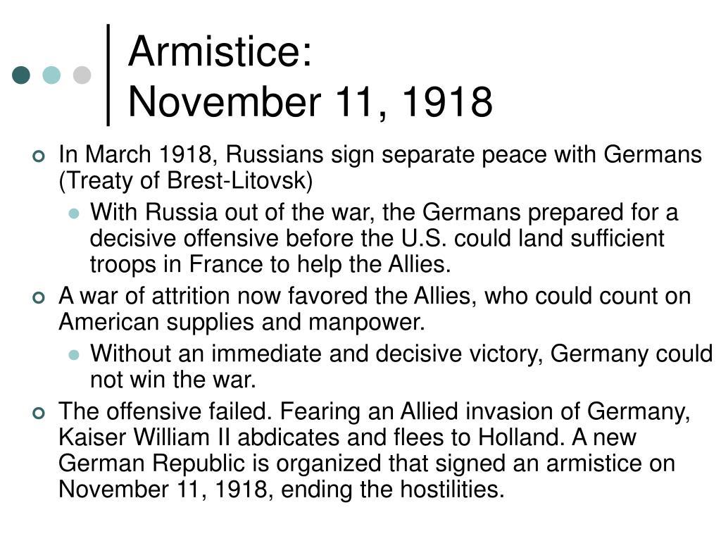 Armistice: