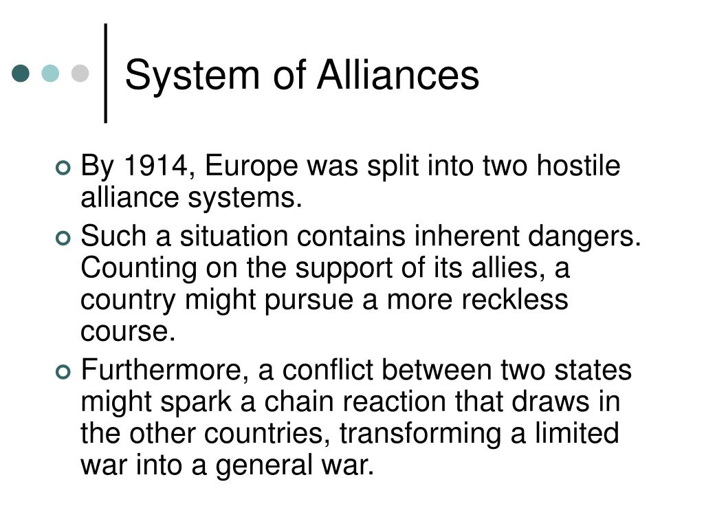 System of Alliances
