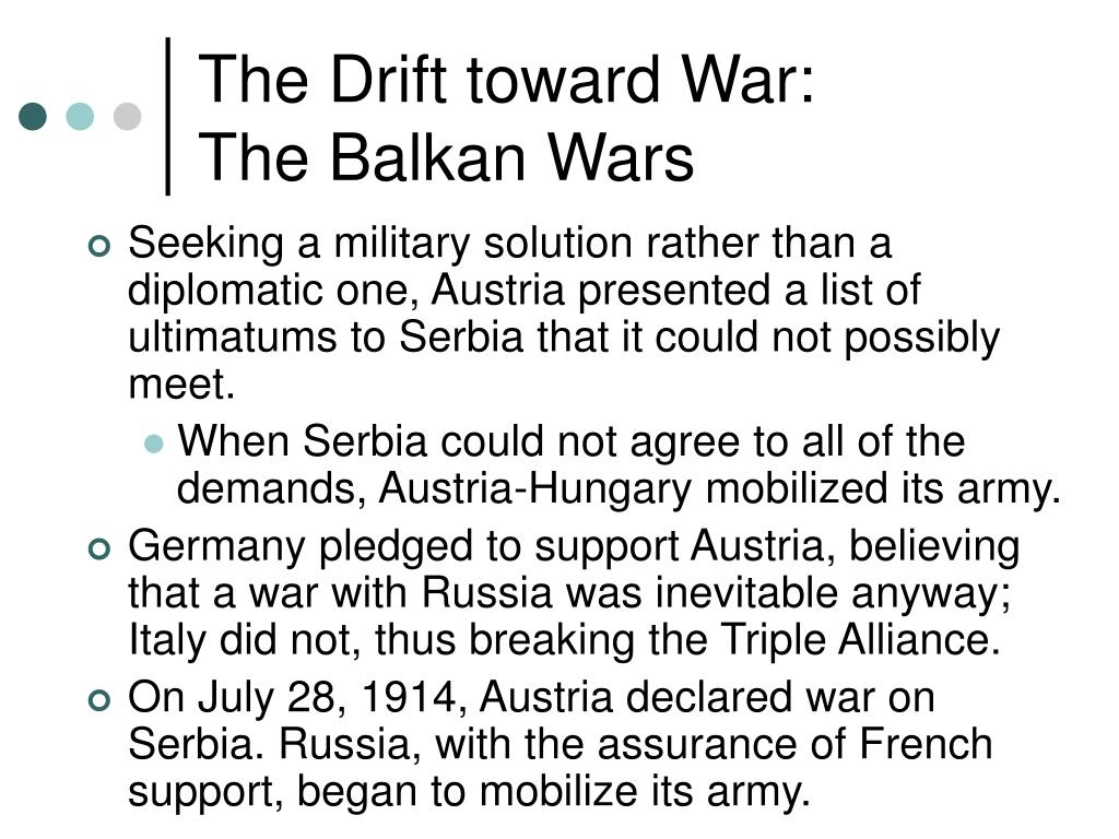 The Drift toward War: