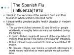 the spanish flu influenza 1918