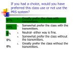 if you had a choice would you have preferred this class use or not use the prs system